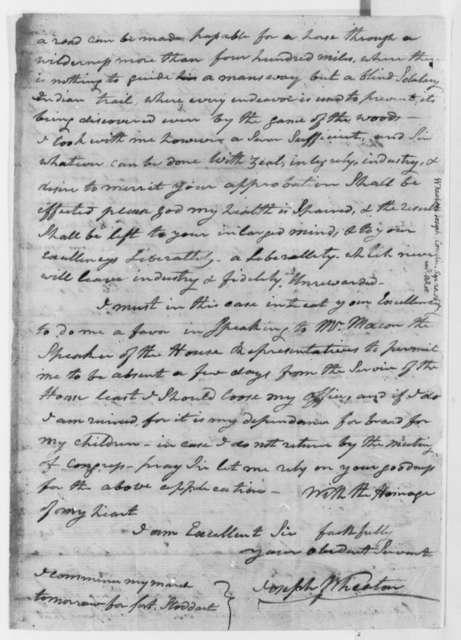 Joseph Wheaton to Thomas Jefferson, September 20, 1806