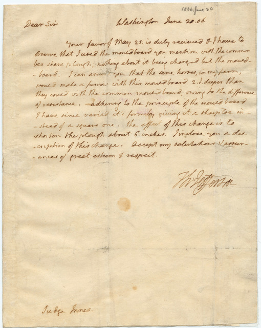 Letter from Thomas Jefferson to Harry Innes