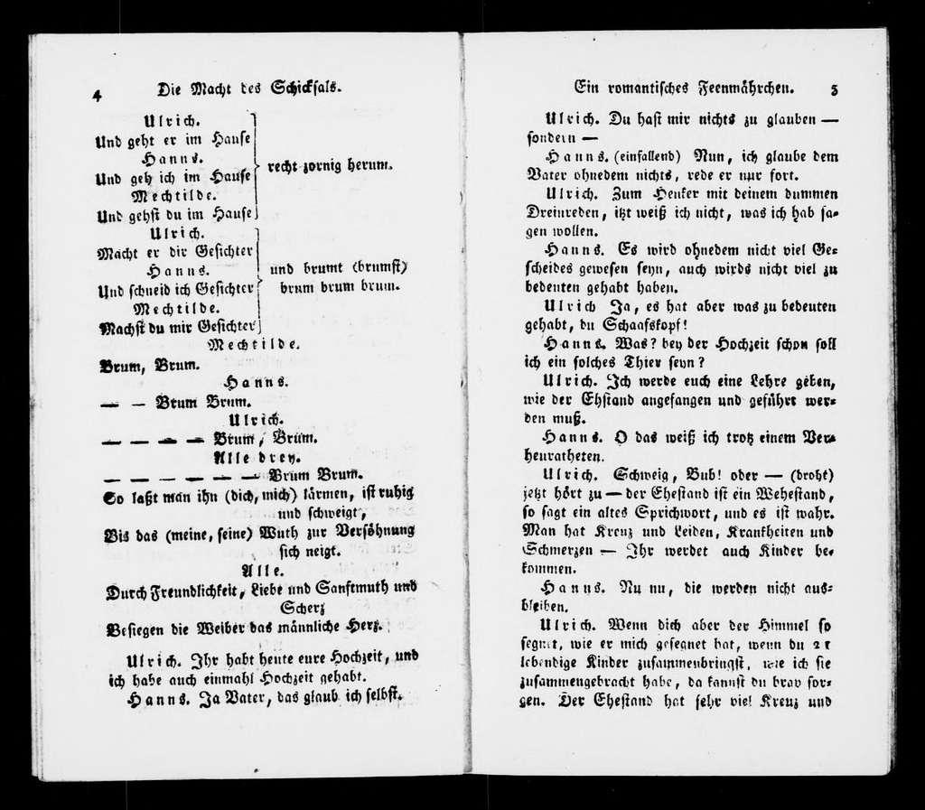 Macht des Schicksals. Libretto. German