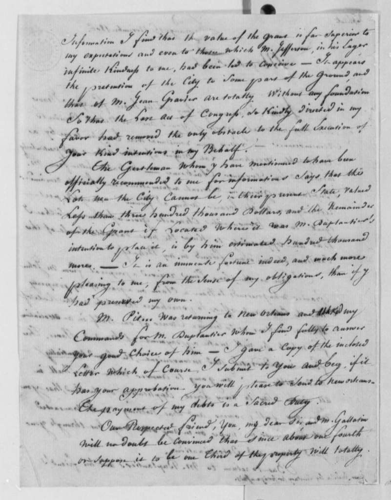 Marie Joseph Paul Yves Roch Gilbert du Motier, Marquis de Lafayette to James Madison, November 15, 1806