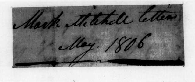 Mark Mitchell to Andrew Jackson, May 19, 1806