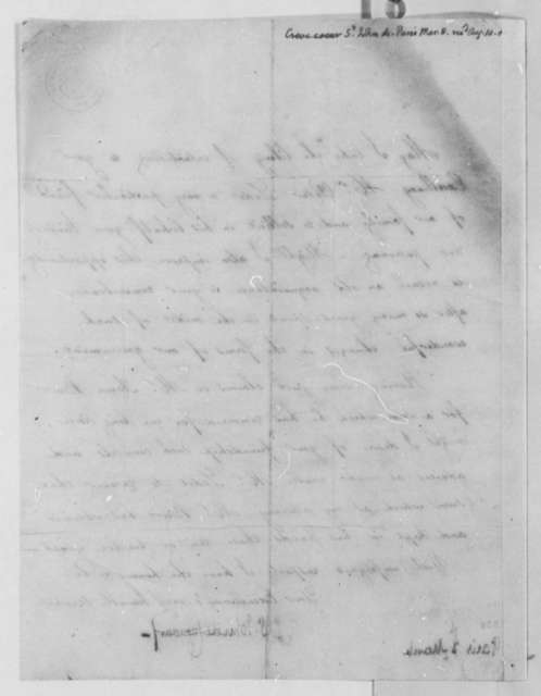 Michel Guillaume Jean de Crevecoeur to Thomas Jefferson, March 8, 1806