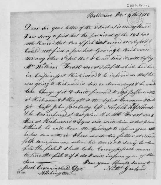 Nathaniel Garland to Jacob Crowninshield, December 4, 1806