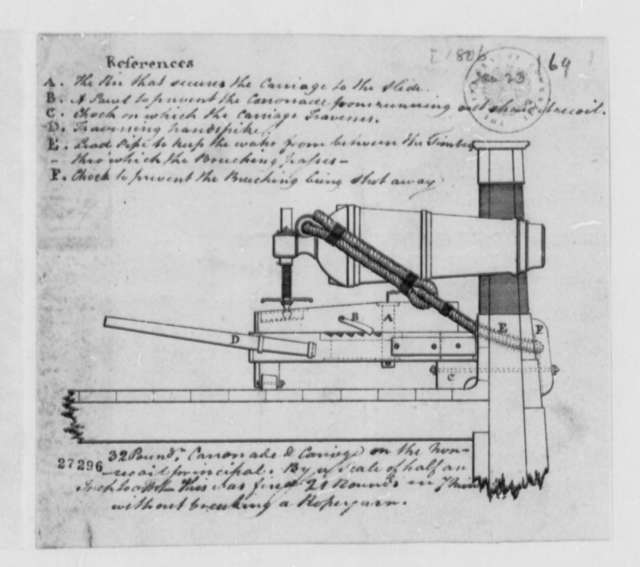 Navy Department, January 23, 1806, Drawing of Cannonade and Carriage