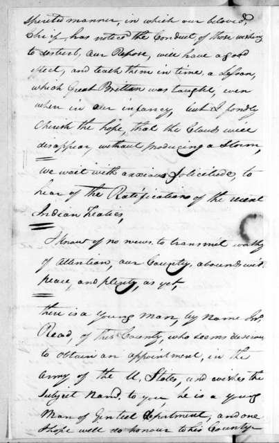 P. C. Foster to Dan Smith, January 3, 1806