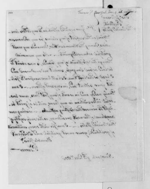 Philip Turner to Thomas Jefferson, December 9, 1806