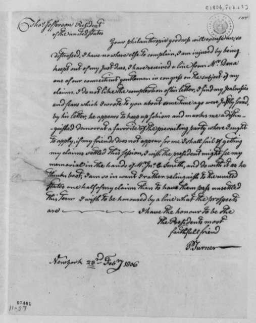 Philip Turner to Thomas Jefferson, February 23, 1806