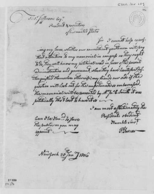 Philip Turner to Thomas Jefferson, January 28, 1806