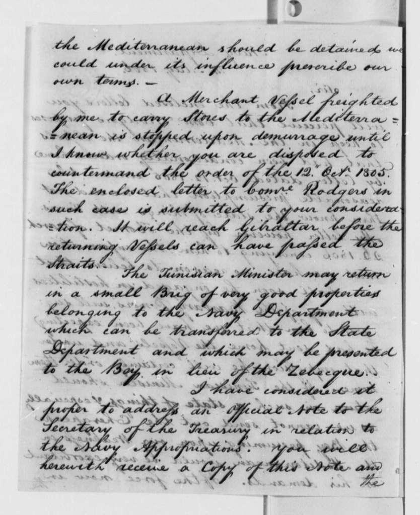 Robert Smith to Thomas Jefferson, May 14, 1806