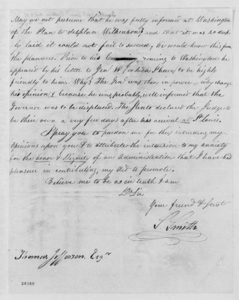 Samuel Smith to Thomas Jefferson, August 8, 1806