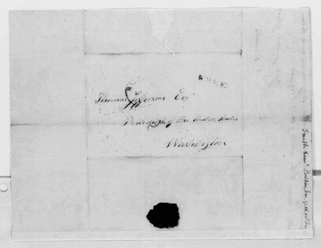 Samuel Smith to Thomas Jefferson, December 17, 1806, with Report