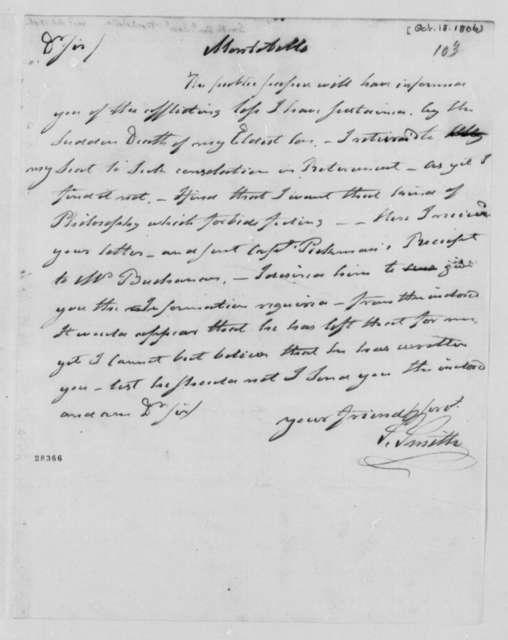 Samuel Smith to Thomas Jefferson, October 18, 1806