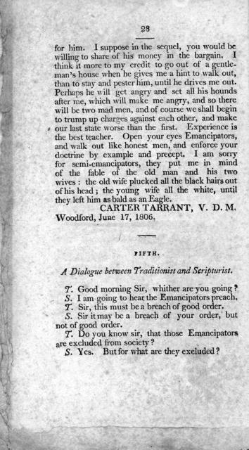 The substance of a discourse delivered in the town of Versailles, Woodford, county, state of Kentucky, April 20, 1806. With some additions, and miscelaneous thoughts, connected with the subject.