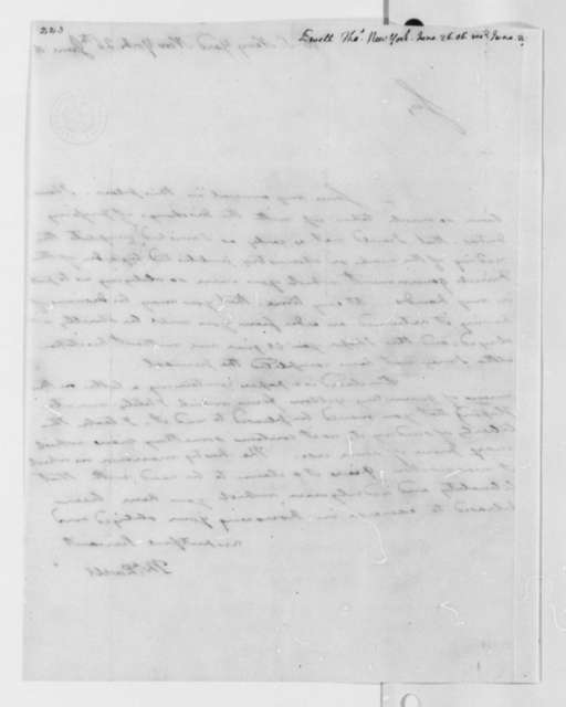 Thomas Ewell to Thomas Jefferson, June 26, 1806