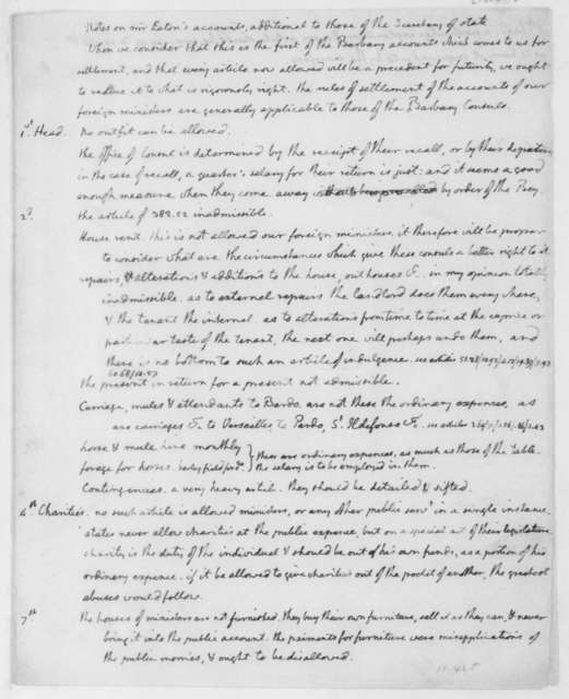 Thomas Jefferson, July, 1806. Notes on W Eaton, Barbary Accounts.