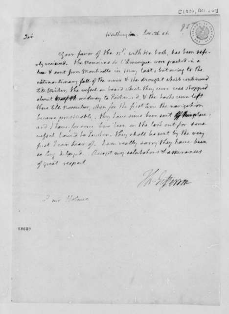 Thomas Jefferson to Abiel Holmes, December 26, 1806