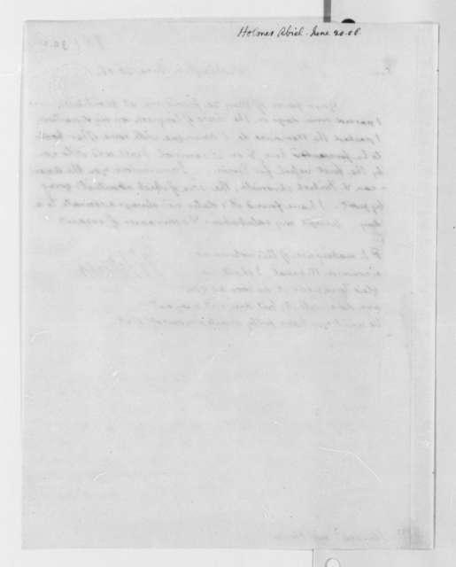 Thomas Jefferson to Abiel Holmes, June 20, 1806
