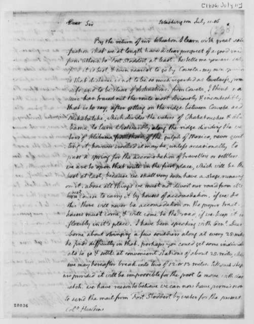 Thomas Jefferson to Benjamin Hawkins, July 11, 1806