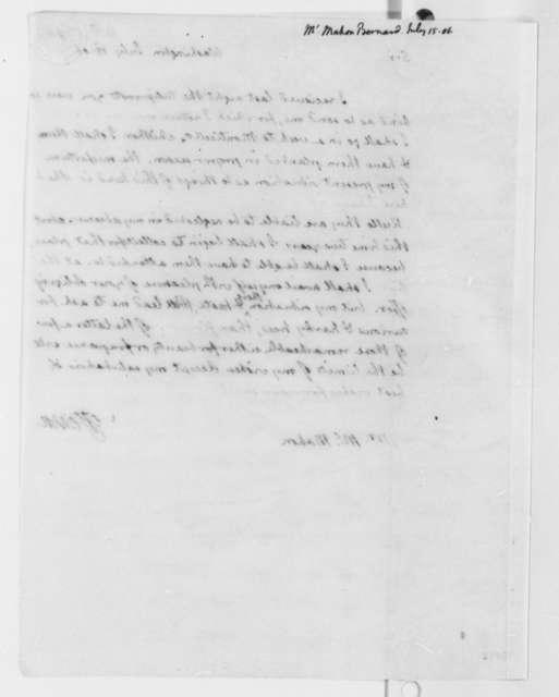 Thomas Jefferson to Bernard McMahon, July 15, 1806