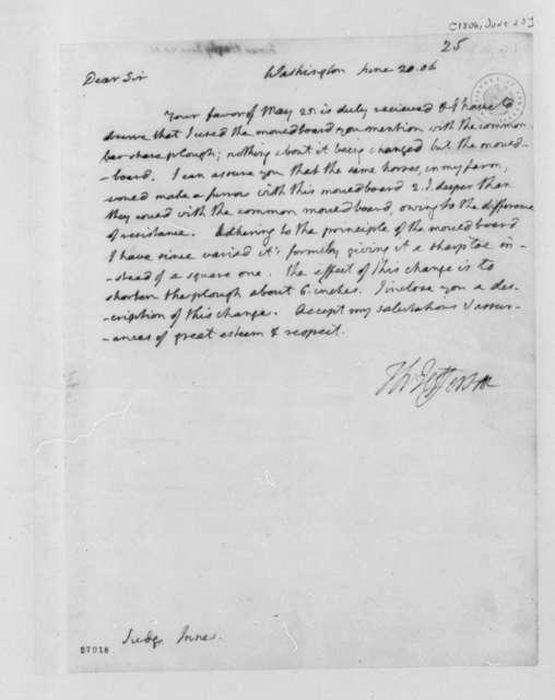 Thomas Jefferson to Harry Innes, June 20, 1806
