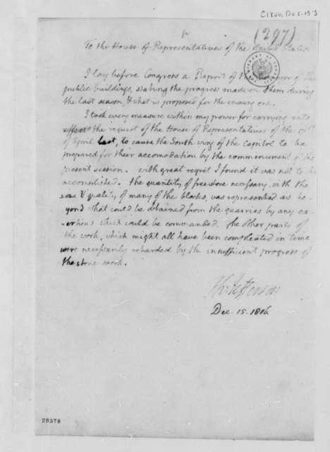 Thomas Jefferson to House of Representatives, December 15, 1806, Report