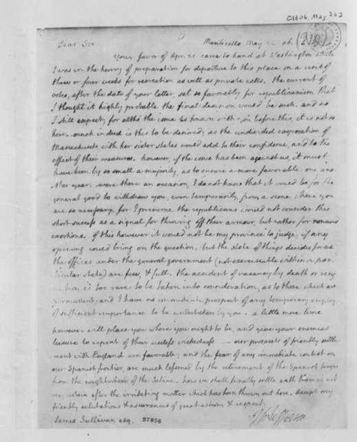 Thomas Jefferson to James Sullivan, May 26, 1806