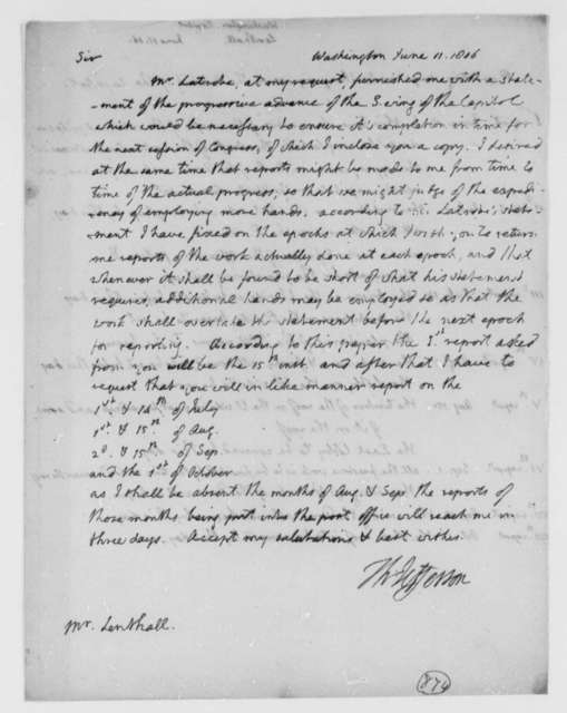 Thomas Jefferson to John Lenthall, June 11, 1806