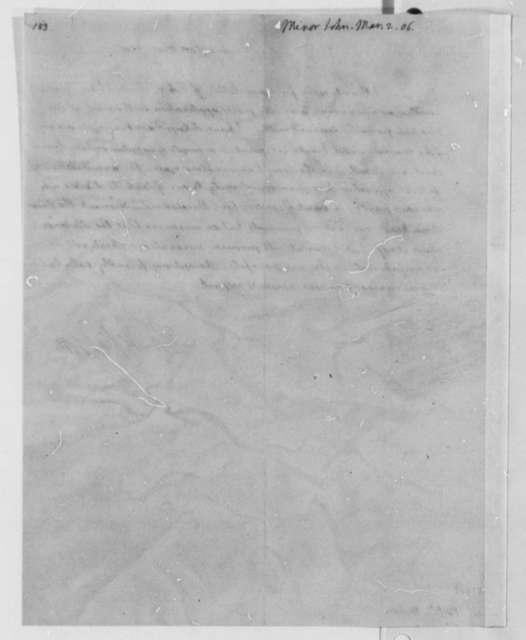 Thomas Jefferson to John Minor, March 2, 1806