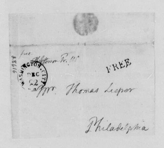 Thomas Jefferson to Thomas Leiper, December 22, 1806, with Copy