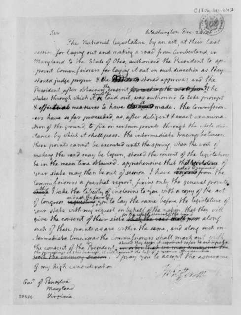 Thomas Jefferson to Thomas McKean, Robert Wright, and William H. Cabell, December 24, 1806