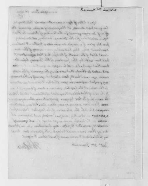 Thomas Jefferson to William Barnwell, June 26, 1806
