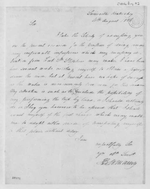 Thomas Walker Maury to Thomas Jefferson, August 4, 1806