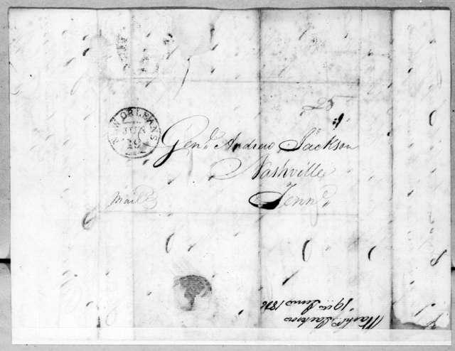 Washington Jackson to Andrew Jackson, June 19, 1806
