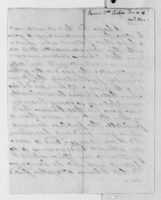 William Jarvis to Thomas Jefferson, December 10, 1806