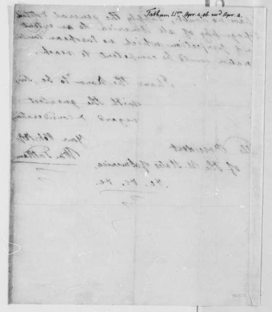 William Tatham to Thomas Jefferson, April 4, 1806