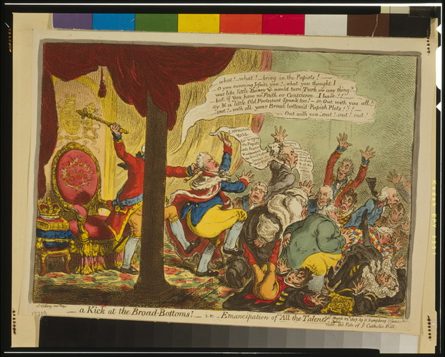 "A Kick at the Broad Bottoms! i.e. - ""Emancipation of All the Talents"" / Js. Gillray, inv. & fec."