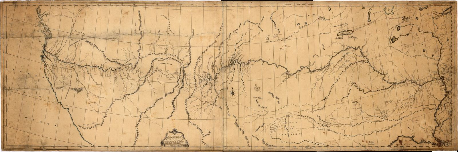 A map of the discoveries of Capt. Lewis & Clark from the Rockey Mountain and the River Lewis to the Cap of Disappointement or the Coloumbia River at the north Pacific Ocean /