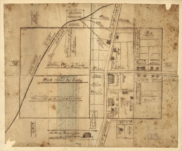 A plan of the section of land on which the Believers live in the state of Ohio, Nov. 7th, 1807.