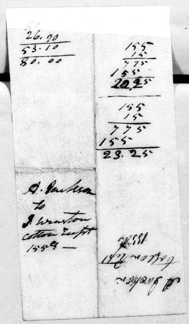 Andrew Jackson to Hardy Flowers, January 26, 1807
