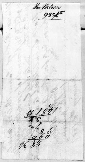 Andrew Jackson to James Wilson, January 2, 1807
