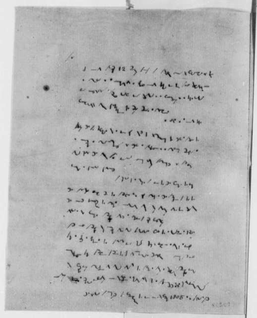 Anonymous to Thomas Jefferson, April 13, 1807, Shorthand