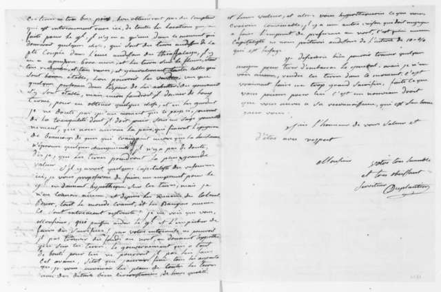 Armand Duplantier to James Madison, September 25, 1807. In French.