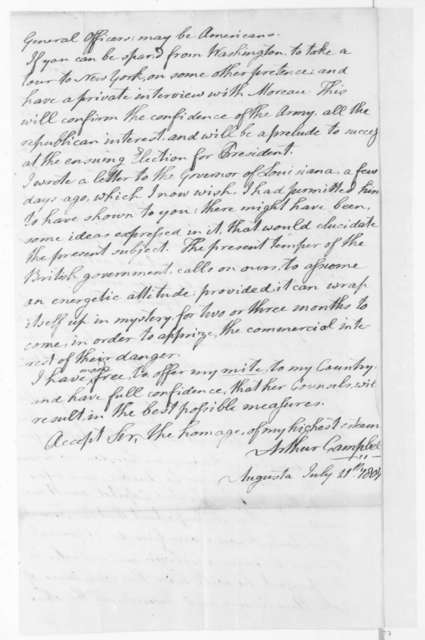 Arthur Campbell to James Madison, July 11, 1807.