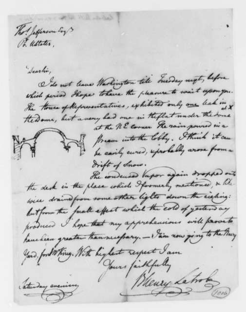 Benjamin H. Latrobe, Surveyor of the Public Buildings to Thomas Jefferson, November 7, 1807
