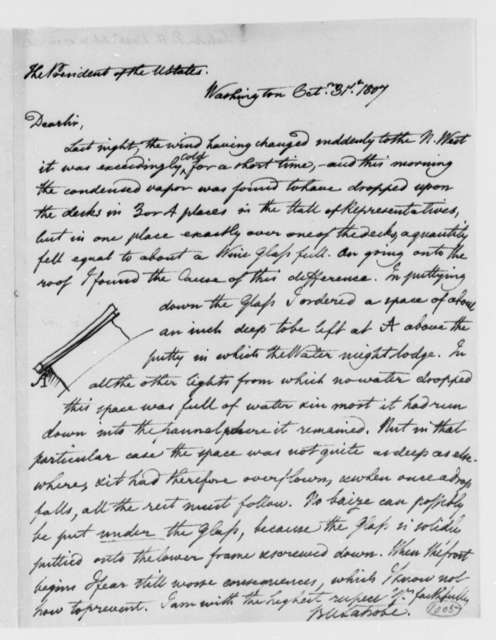 Benjamin H. Latrobe, Surveyor of the Public Buildings to Thomas Jefferson, October 31, 1807