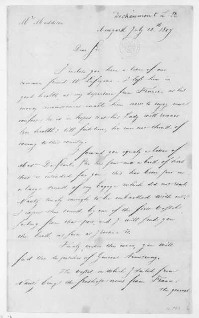 Chaumont to James Madison, July 12, 1807.
