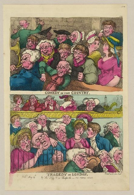 Comedy in the country. Tragedy in London / Rowlandson, scul.