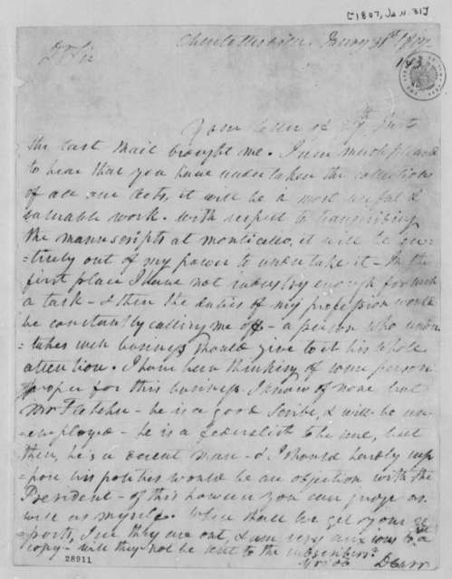Dabney Carr to William Waller Hening, January 31, 1807