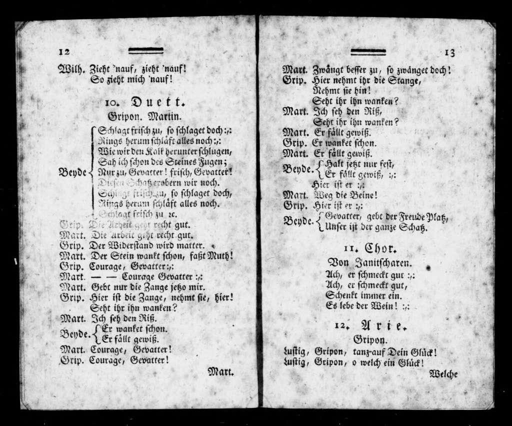 Deux avares. Libretto. German