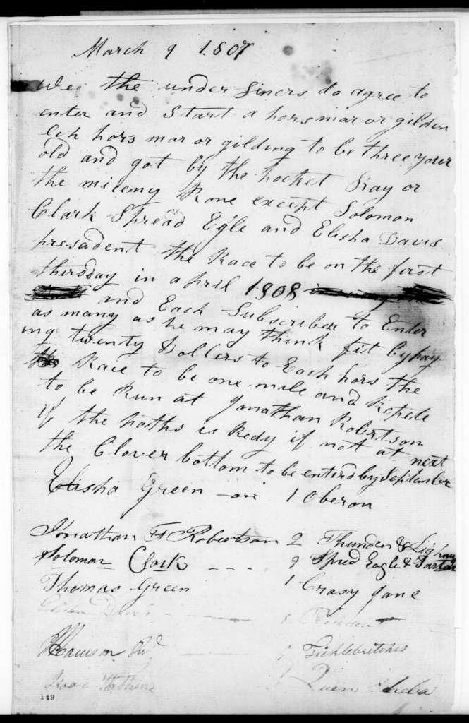 Elisha Green et al., March 9, 1807
